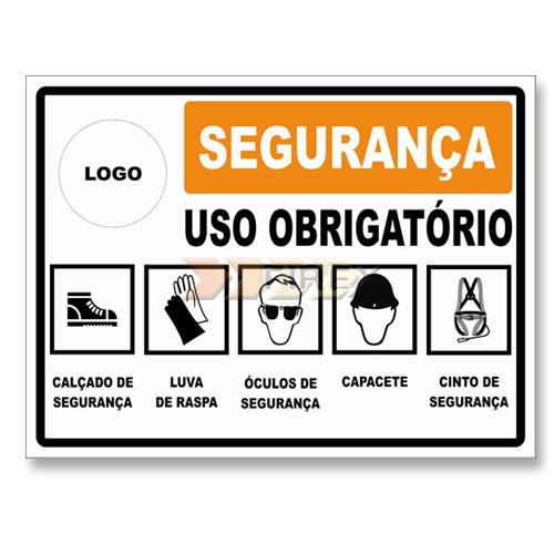 ad3e000bcdd76 Placa de sinalização para Uso Obrigatório de EPI`S - Placas de ...