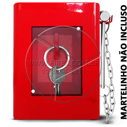 3a670b6cf8bed Caixa Porta Chave Metálica Retangular - Caixa Porta Chave - Firex