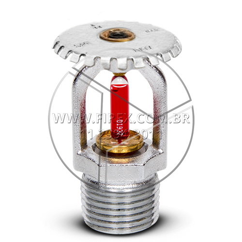Sprinkler Cromado UP Right 68º C 1/2 - Fator K 80