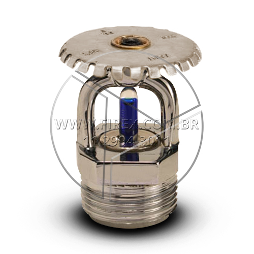 Sprinkler Cromado Up Right 141º C 3/4 - Fator K 115