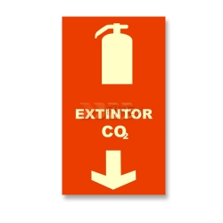 Placa Extintor de CO2 - E20